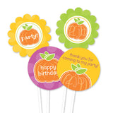 2 june bugs Pumpkin Party Printables - Party Circles for Cupcake Toppers