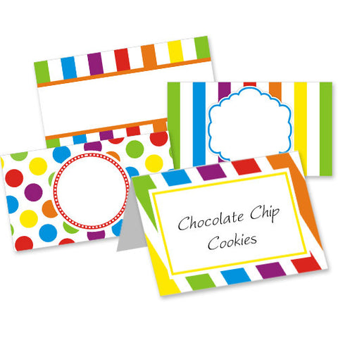 Rainbow Table Tent Cards