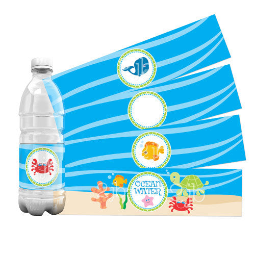 Under The Sea Water Bottle Labels