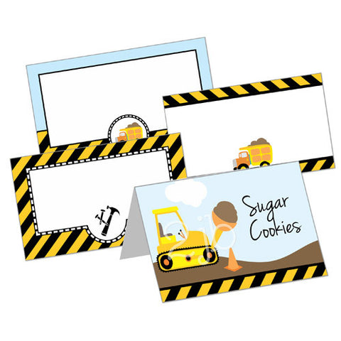 Construction Table Tent Cards