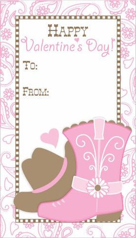 2 june bugs Printable Cowgirl Valentine's Day Card