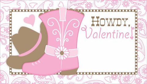 Cowgirl Valentines/Favor Tags
