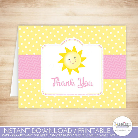 You Are My Sunshine Thank You Card