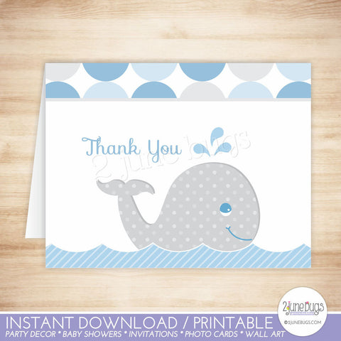 Mod Whale Thank You Card