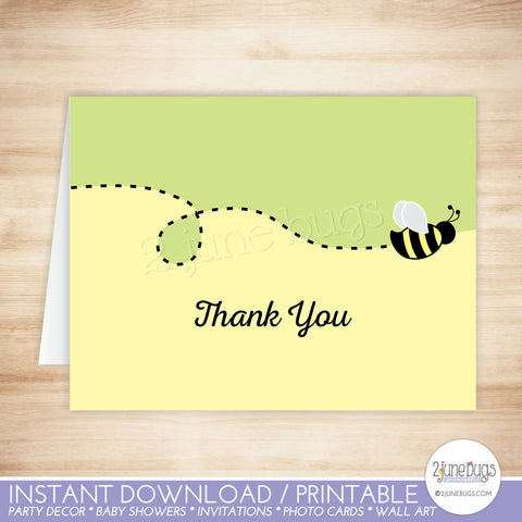 Bumblebee Colorblock Thank You Card
