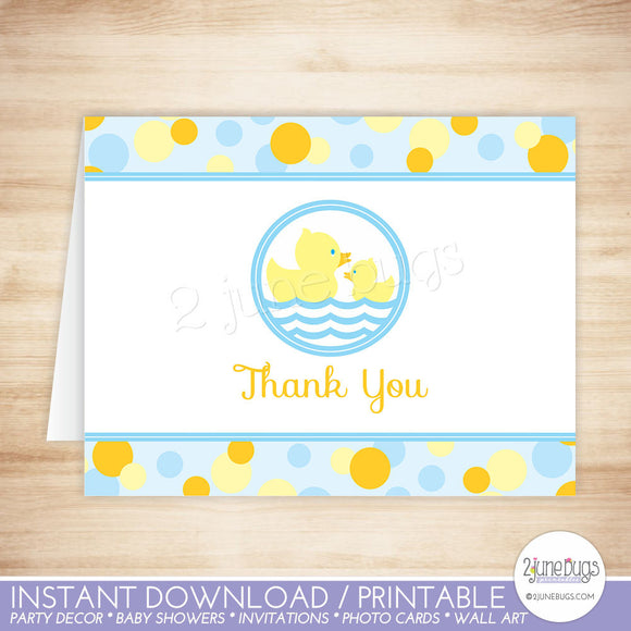 Rubber Duck Thank You Card