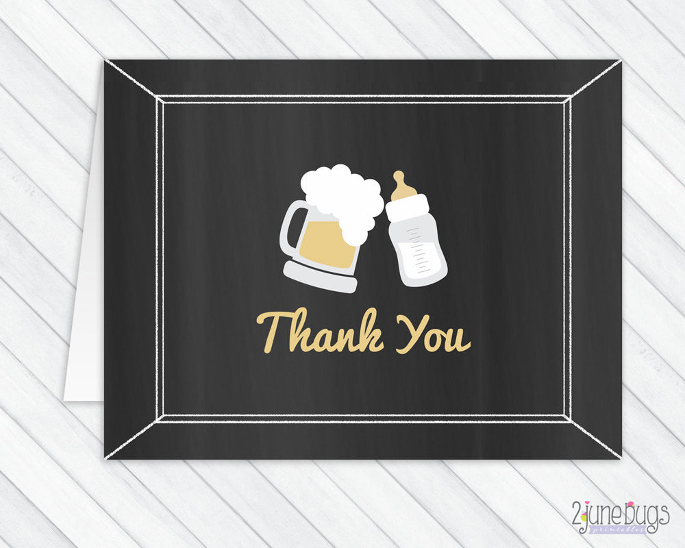 Baby is Brewing Baby Shower Thank You Card