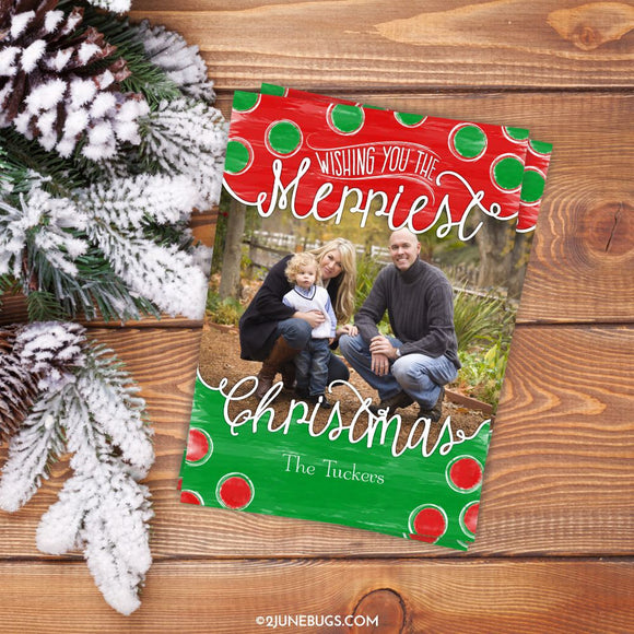 Personalized Christmas Photo Card by 2 june bugs
