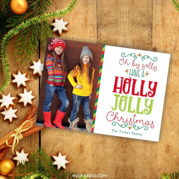 2 june bugs Personalized Christmas Photo Card1