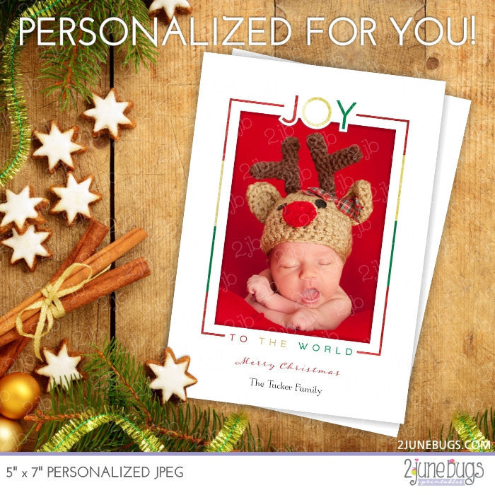 Joy to the World Religious Christmas Photo Card