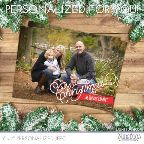 Banner Full Photo Christmas Card