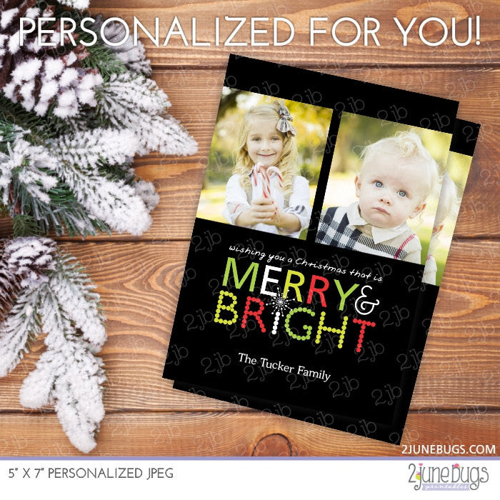 Merry & Bright Christmas Photo Card