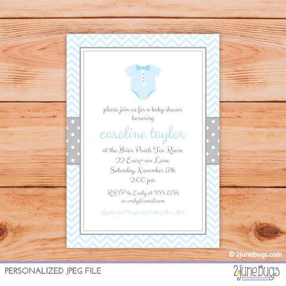 2 june bugs Personalized Baby Shower Invitation