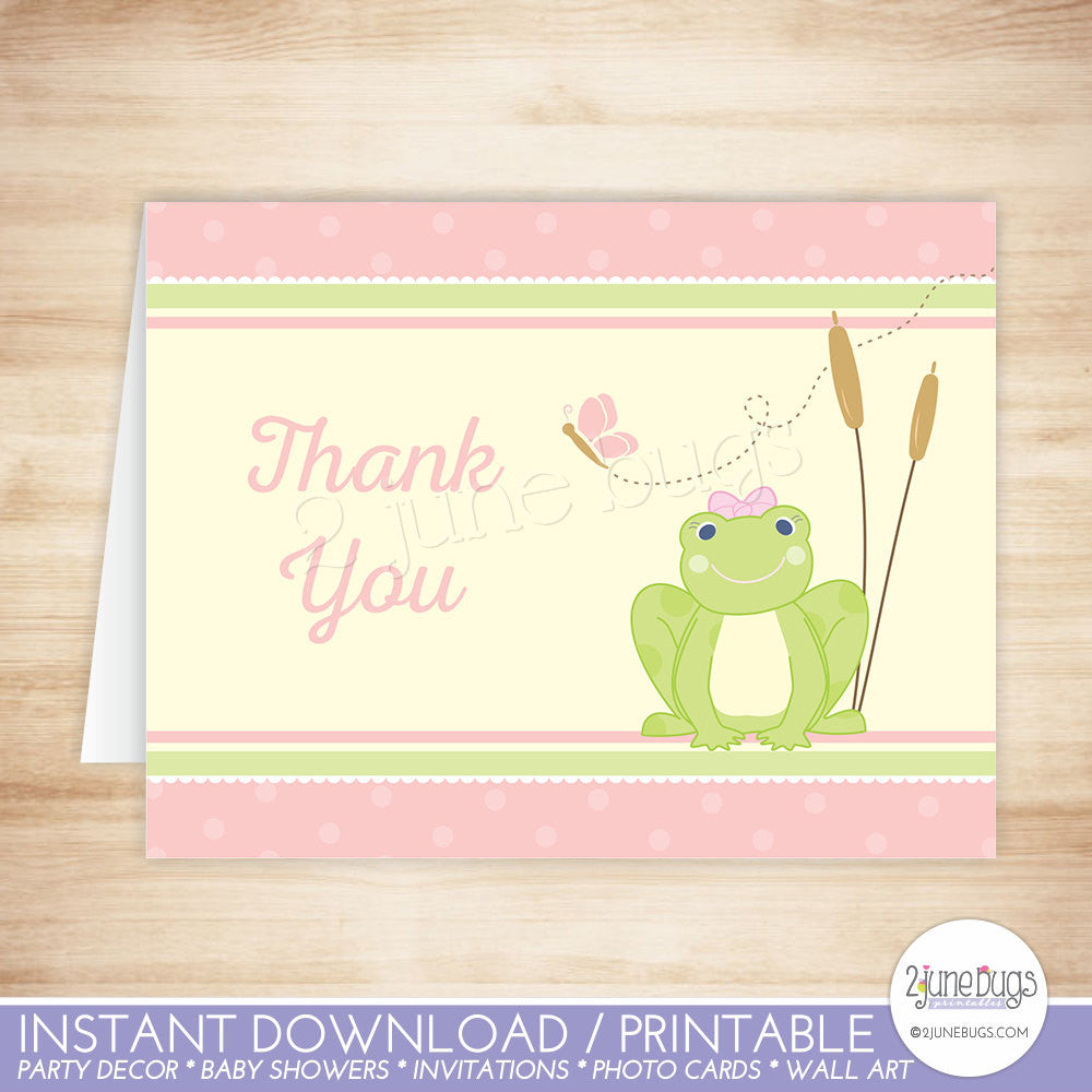 Girl Frog Thank You Card