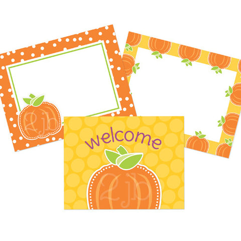 Preppy Pumpkin Party Signs