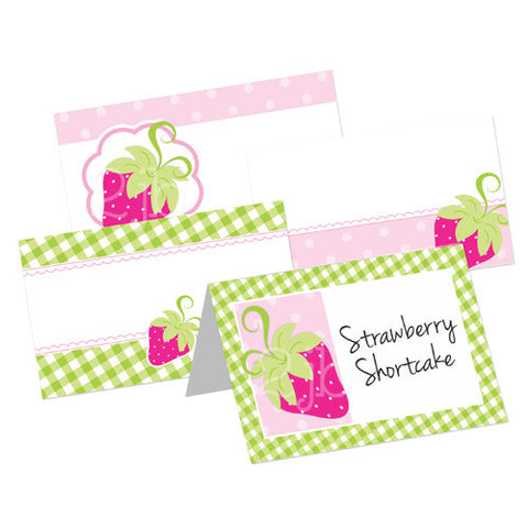 Strawberry Table Tent Cards
