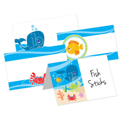 Under The Sea Table Tent Cards