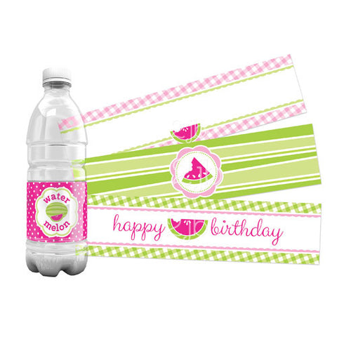 Watermelon Water Bottle Labels