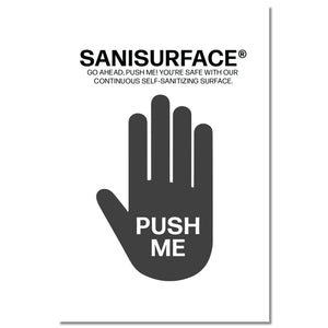 3117 Sanisurface Door Push Pad (White) - Includes 25 Stickers