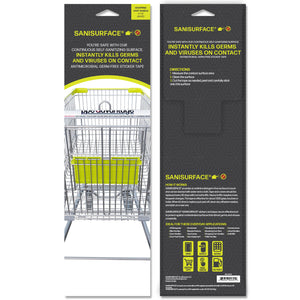 3118 Sanisurface Shopping Cart Handle (White) - Includes 25 Stickers