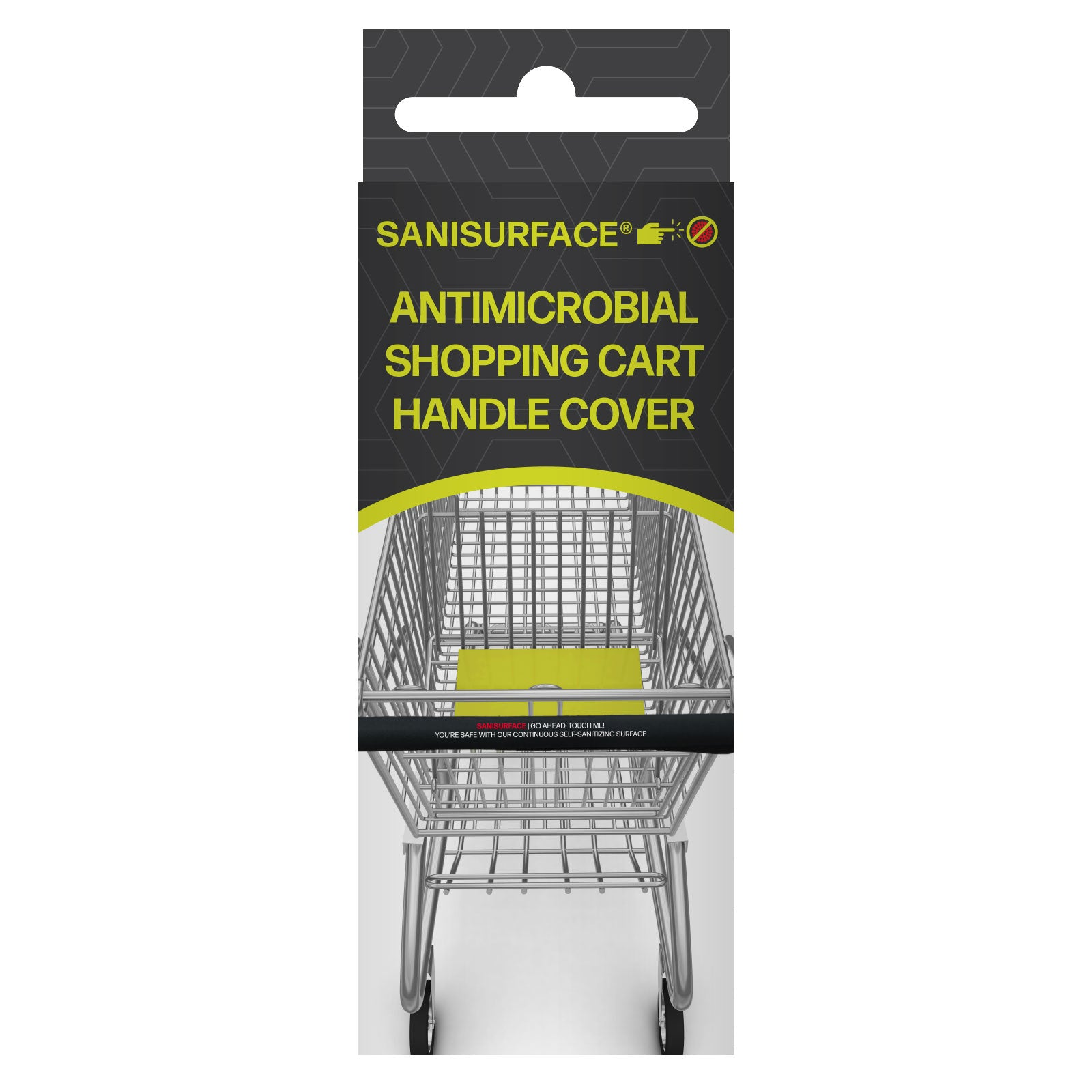 3180 Sanisurface Lycra Fabric Antimicrobial Shopping Cart Handle Bar (Black)