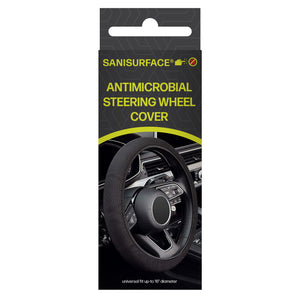 3189 Sanisurface Lycra Fabric Antimicrobial Car Steering Handle (Black)