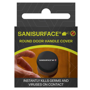 3193 Sanisurface Lycra Fabric Antimicrobial Round Door Cover (Black)