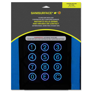 3244 SANISURFACE Vending Machine Buttons (Clear) - Includes 625 Stickers
