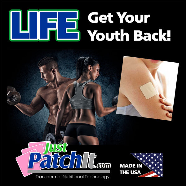 JUST PATCH IT - LIFE PATCHES-  30  LIFE DHEA Transdermal Patches