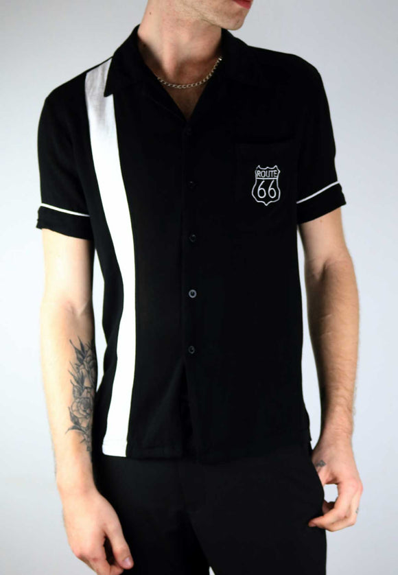 Dress to impress with this super cool mens black & white