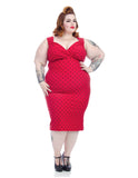 Polka Dot Diva Dress in Red