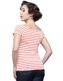 Sandra Dee Striped Top in Pink & Ivory