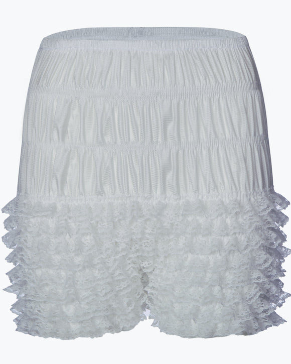 The Frilly Pettipants Knickers are worn underneath your skirt or petticoat, creating a seamless and invisible blend, blending the petticoat and knickers into one.  These Frilly Pettipants Knickers are very soft, stretchy and comfortable to wear.  Fitted with a high waisted flat waistband to reduce bulk at the waist and to hold them into place. These are a necessity to really create that perfect vintage feel. No refunds or exchanges on Frilly Knickers. Now available at Rockabilly Australia!