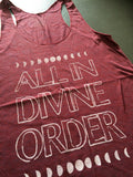 ALL IN DIVINE ORDER in maroon with White by Grizzy Love Conscious Wear