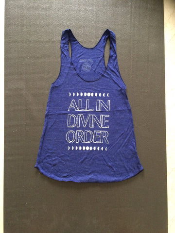 ALL IN DIVINE ORDER in Navy with White by GrizzyLove Conscious Wear