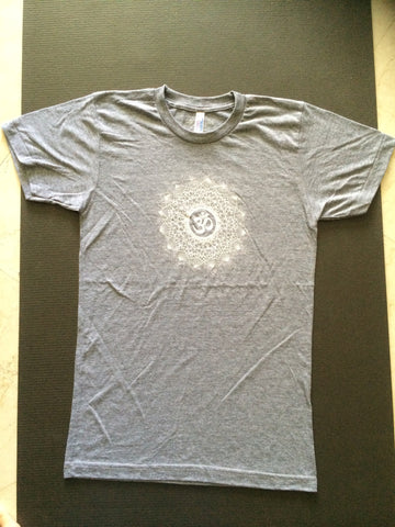 OM Dotwork Unisex T-shirt in Grey by GrizzyLove