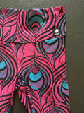 Peacock Leggings in Pink and Turquoise by Lineagewear