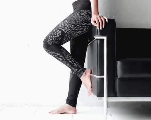 eleven44 Black Owl Leggings