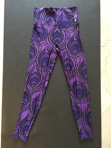 Peacock Leggings in Purple by Lineagewear