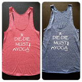 SG50 #sgyogi - DIE-DIE MUST YOGA in Grey Blue