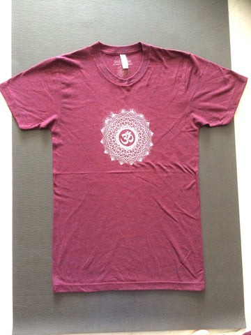 OM Dotwork Unisex T-shirt in Maroon by GrizzyLove