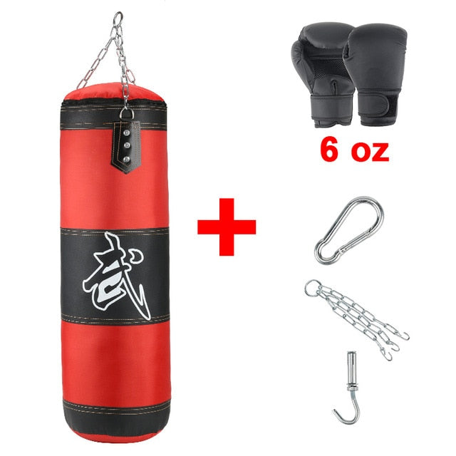 Professional  Boxing Punching Bag Training Fitness With Hanging Kick Sandbag adults  Gym Exercise empty-Heavy boxing bag