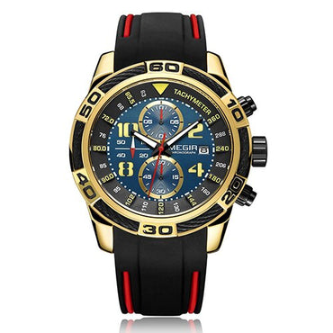 Megir Sport Watch Men Luxury Top Brand Fashion Business Silicone Waterproof Male Chronograph Clock Man Quartz Watches Wristwatch