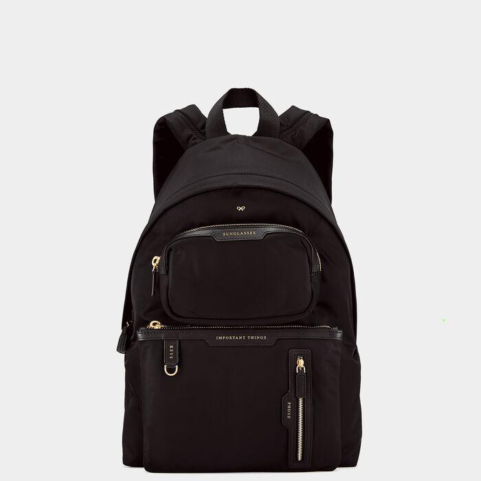 Multi-Pocket Nylon Backpack