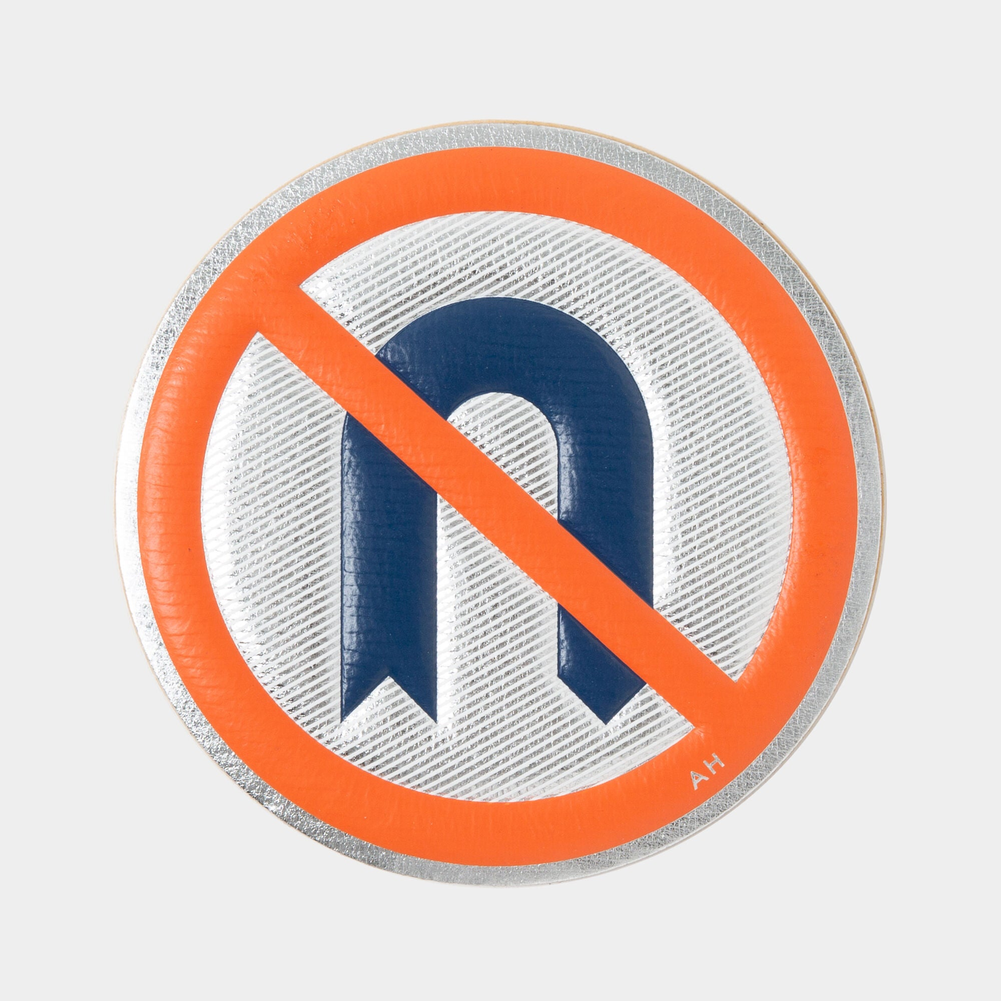 No U Turn Oversized Sticker