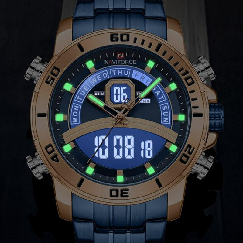 Relógio Digital Quartz NAVIFORCE - NF9181 (Masculino)