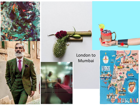 London to Mumbai Eau de parfum Mood Board