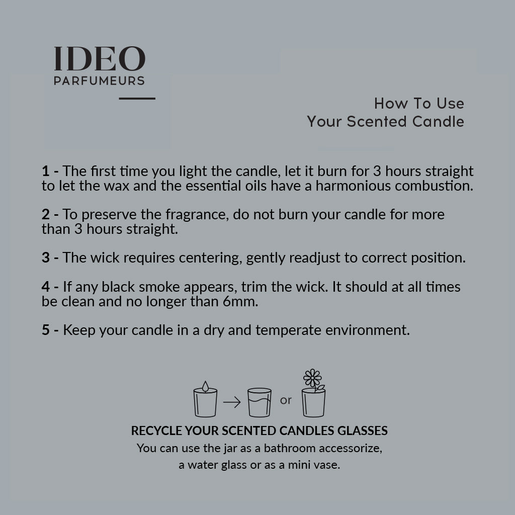 how to use the scented candle by ideo parfumeurs