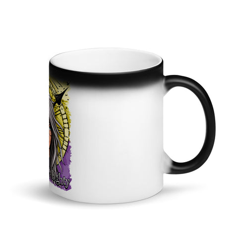 Waking Up Eighty Matte Black Magic Mug