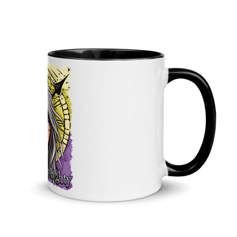 Waking Up Eighty Mug with Color Inside